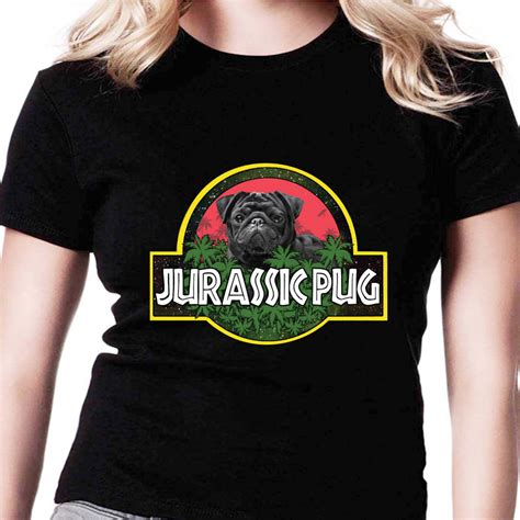 with pug shirt jurassic pug jurassic park amr from shoptshirt net