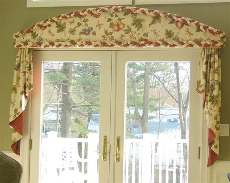 cornice drapes cornice with braid and cascades curtains boutique