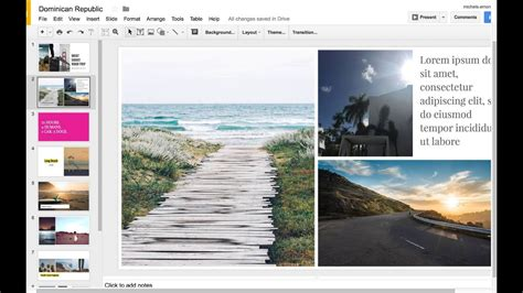How To Make A Google Slides Photo Album Youtube Slides Photo Album Template