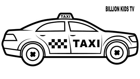 taxi car coloring page taxi car coloring pages colors for kids with vehicles