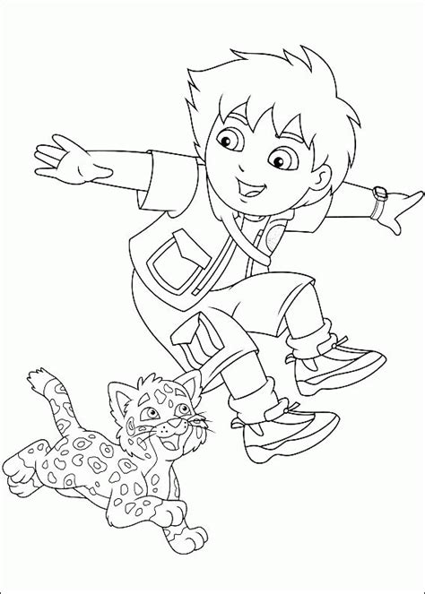 Diego Coloring Pages Nick Jr | go diego go coloring pages coloringpagesabc com