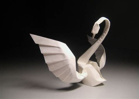 Origami Swan With Wings - origami swan bored panda