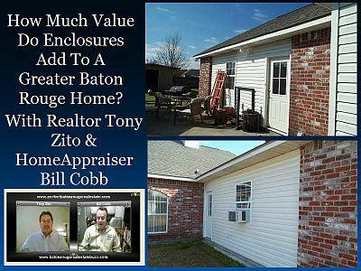 how baton real estate appraisers value enclosures