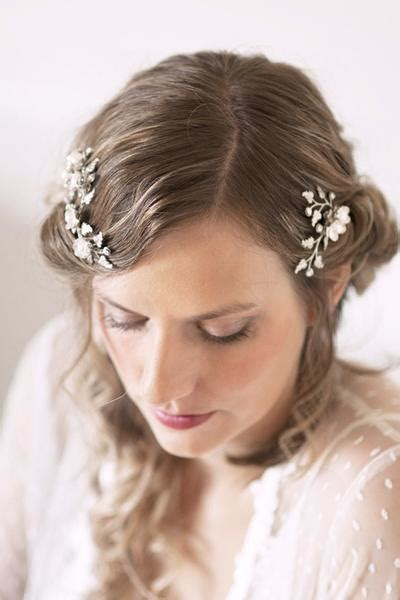Set Of 2 Flower Hair Comb flower and pearl bridal hair comb set of 2 112hc