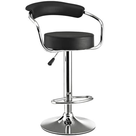 chrome bar stools with back diner modern upholstered bar stool w back foot rest in