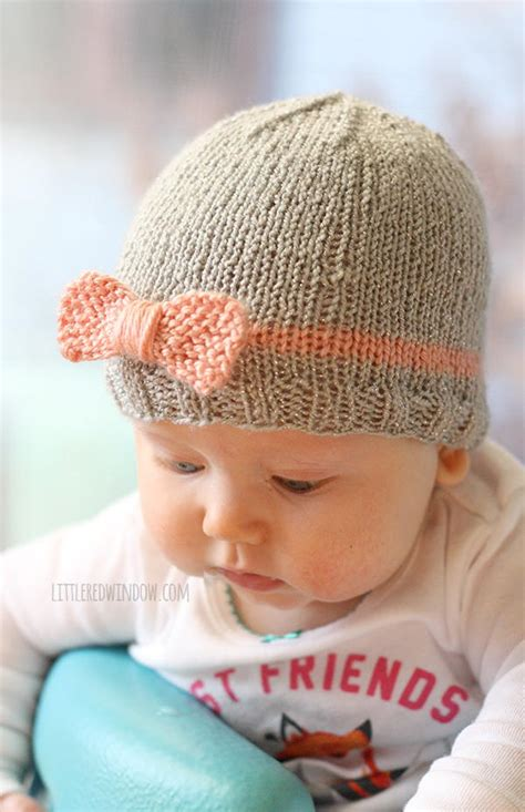knitting patterns for baby hats bow baby hat allfreeknitting