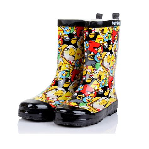 comfortable rain boots 2015 angrybird graphic design lightweight and comfortable