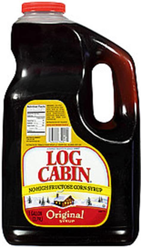 log cabin syrup original  gal nutrition information shopwell