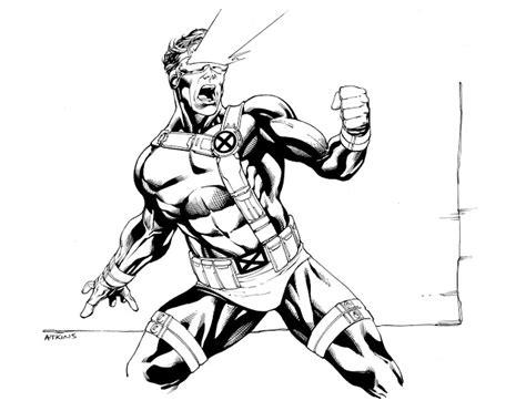 cyclops marvel coloring pages robert atkins art september 2011