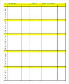 sub lesson plan template weekly lesson plan 8 free for word excel pdf