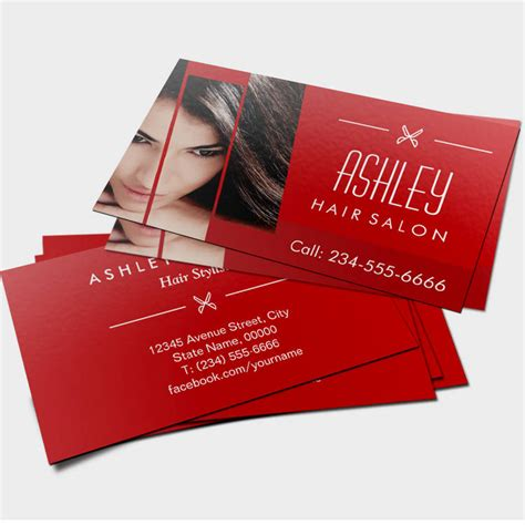 hair business cards templates bakery business cards