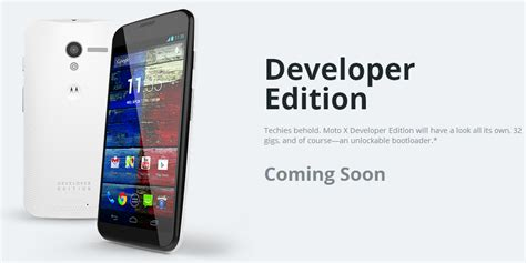 motorola s own website outs the 32gb motorola moto x developer edition