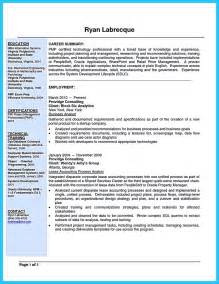 Resume Exles Industry Create Your Astonishing Business Analyst Resume And Gain The Position