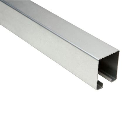Crown Bolt 8 Ft Galvanized Box Rail 63075 The Home Depot Where To Buy Barn Door Hardware