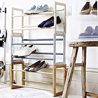 lakeland shoe storage extending stackable steel shoe rack holds 10 pairs