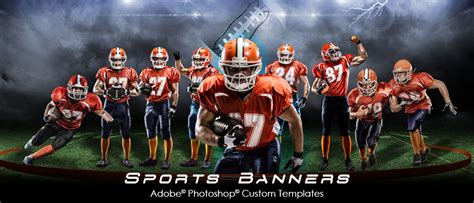 sports banner templates arc4studio photoshop templates for photographers