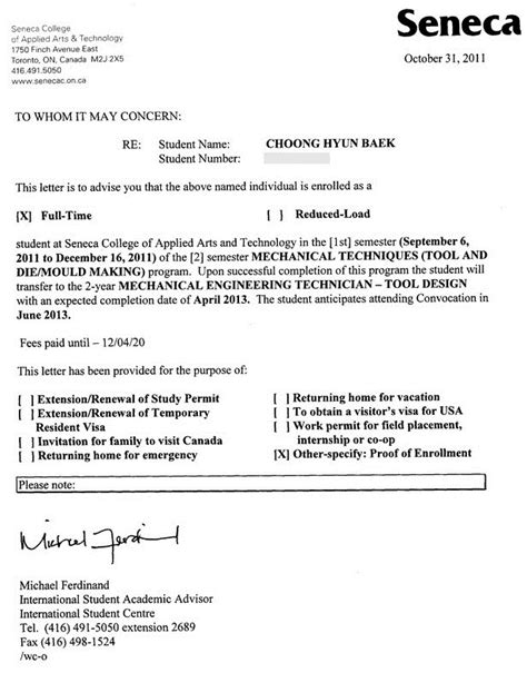 Proof Of Enrollment Letter my studies review global engineer harry