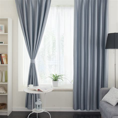 curtains for a small living room thermal living room or balcony solid color gray curtains