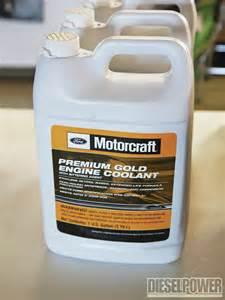 Ford Coolant Fluid Basics Diesel Service Schedule Motorcraft Gold Coolant Photo 3