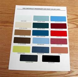 1955 chevy paint chip chart all original colors usa made ebay