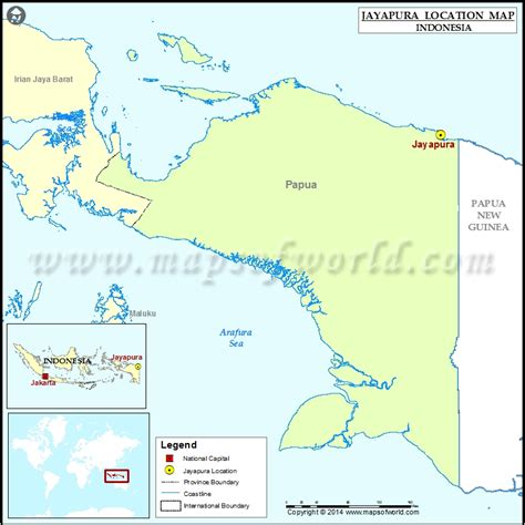 jayapura location  jayapura  indonesia map