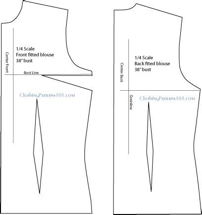 shirt pattern drawing how to draft a fitted shirt or blouse