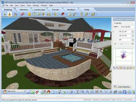 hgtv home design software using the view options