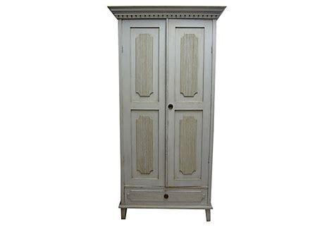 Clothing Cabinet by Antique Swedish Clothing Cabinet