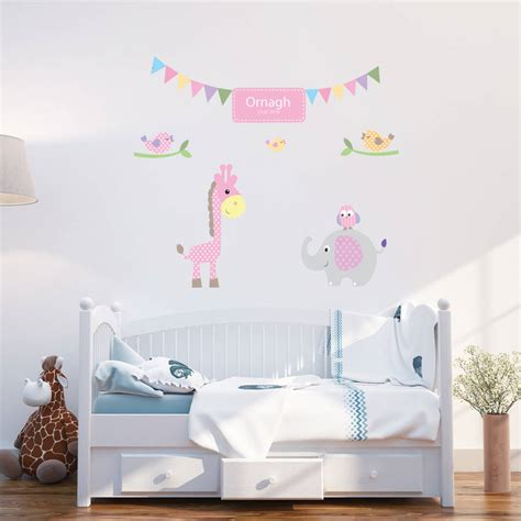 wall stickers for baby personalised baby wall stickers by parkins interiors