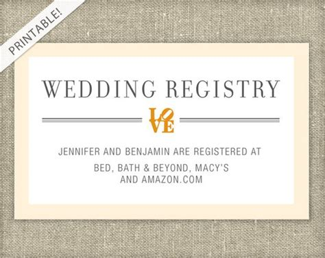 free customizable registry card template bridal shower registry card customizable colors