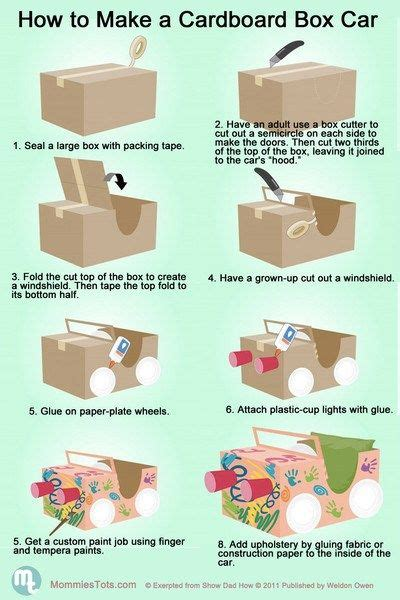 How To Make A Box Out Of Card Template by How To Build A Cardboard Car For Our Quot Drive In