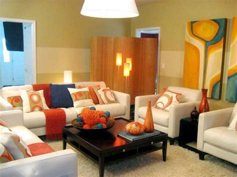 how to use orange and blue color schemes for modern interior design and decor