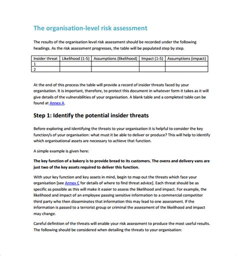 network security assessment template security risk assessment 9 free documents in