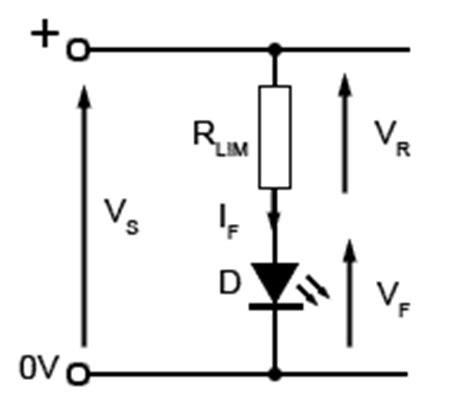 led current limiting resistor equation light emitting diodes