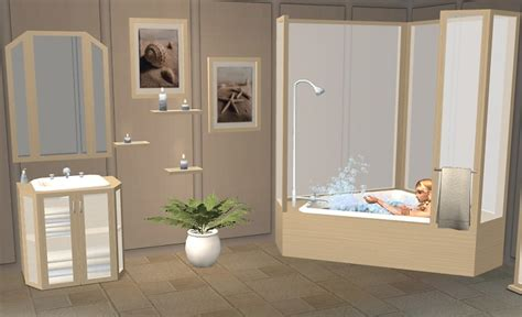 Sims 2 Bathroom by Mod The Sims Pentago Bathroom Mesh Set