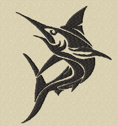 barramundi tattoo designs tribal marlin machine embroidery tropical