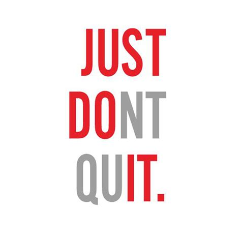 Tshirt Nike Just Do It Never Quit fitness wall sticker just do it just dont quit