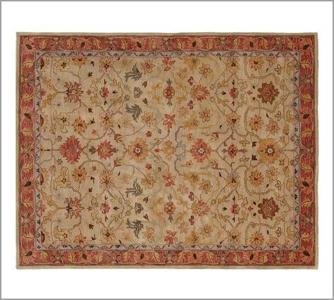 New Pottery Barn Handmade Persian Elham Area Rug 8x10 Pottery Barn Area Rugs