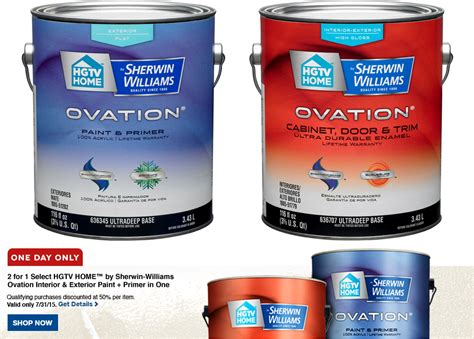 lowes paint buy 1 get 1 free hgtv home sherwin williams paint at lowe s