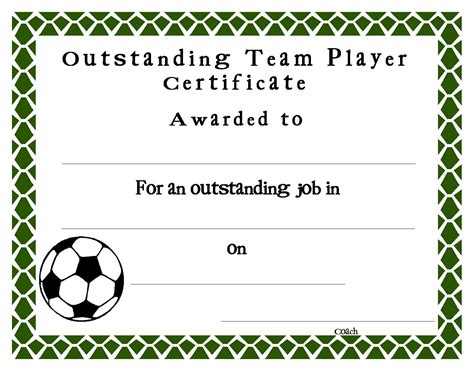 football certificate templates uk best and various