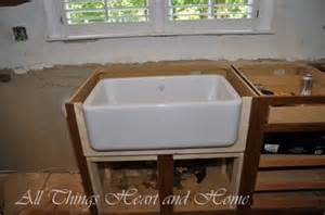 How To Install A Farmhouse Kitchen Sink The Farm Sink Aka The All Things And Home