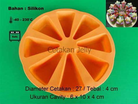 Cetakan Puding Kue Silikon Fancy cetakan silikon kue puding slice pan 8 cav cetakan jelly
