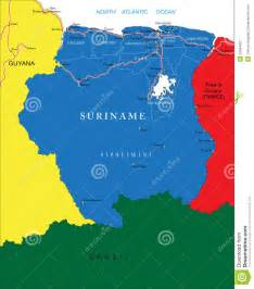 French Country Plans suriname map stock vector image of background