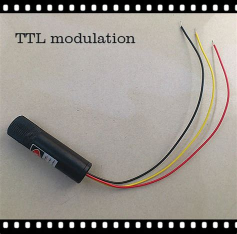 laser diode and modulation 532nm 5mw 50mw ttl modulation green laser module dot line 16mmx70mm