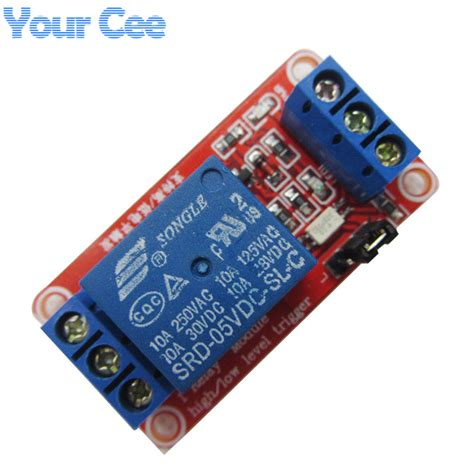 Relay Module Dc 5v 1 Channel High Trigger one 1 channel 5v 5v relay module board shield with ᐂ optocoupler optocoupler support high and