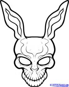 Frank The Bunny Outline by How To Draw Frank The Rabbit Donnie Darko Step By Step Pop Culture Free