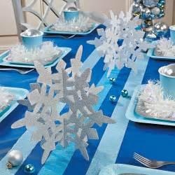 Winter Wonderland Snowflake Decorations - glitter snowflake centerpieces oriental trading