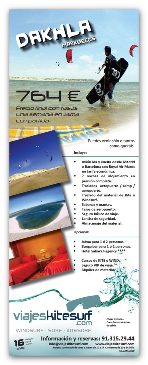 design and layout for print ads viajes kitesurf los roques