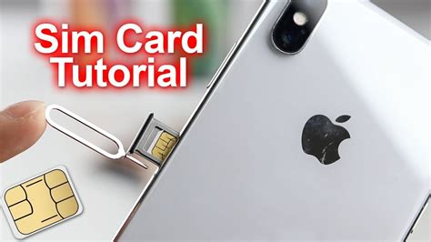 how to insert remove sim card iphone xs iphone xs max