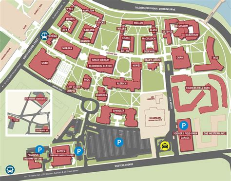 Mba Schools Maps by Map Harvard Business School
